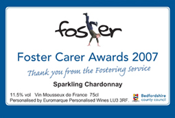 foster care thank you label